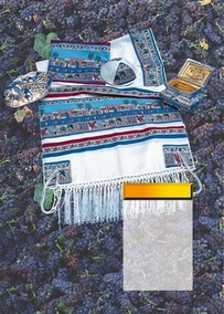 The Seven Species and Jerusalem Tallit for adults 140X180cm