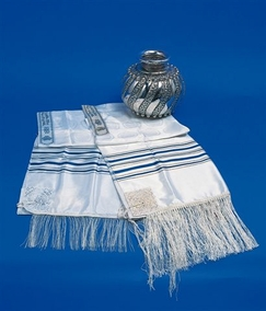 The Silk of Zion Tallit Rabanut Kosher for adults 100X200