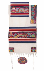 "The Twelve Tribes Tallit  CAT# TFE- 6 , 61"" X 75"""