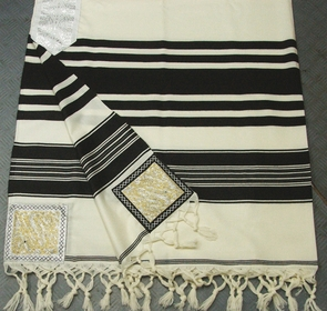 "Traditional ""Temani"" Jewish Talit 100% delicate special wool 150X200cm"