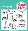 Avery Elle Clear Stamp Set Flamingos