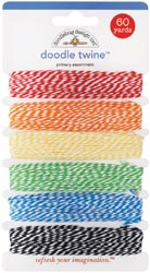 Doodlebug: Doodle Twine Assortment Pack - Primary