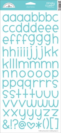 Doodlebug: Simply Sweet - Swimming Pool Cardstock Alphabet Stickers