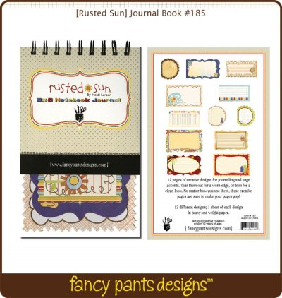 Fancy Pants: Rusted Sun - Journal Book