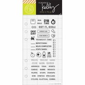 Hero Arts Kelly Purkey Fitness Planner Clear Stamps
