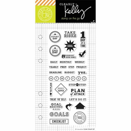 Hero Arts Kelly Purkey Goal Planner Clear Stamps