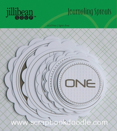 Jillibean Soup: Journaling Sprouts - Number Circles/Brown