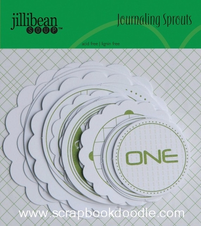 Jillibean Soup: Journaling Sprouts - Number Circles/Green