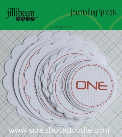 Jillibean Soup: Journaling Sprouts - Number Circles/Red