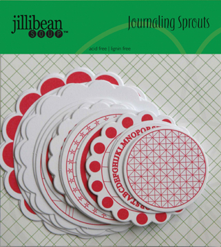 Jillibean Soup: Journaling Sprouts - Pink/White Circle 24/Pkg