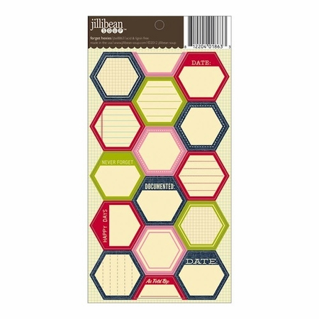 Jillibean Soup - Hexies Cardstock Stickers - Forget