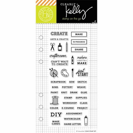 Hero Arts Kelly Purkey Arts & Crafts Planner Clear Stamps
