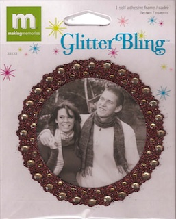 Making Memories: Glitter Bling - Brown Round Frame
