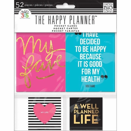 Me & My Big Ideas Create 365 The Happy Planner Pocket Cards 52/Pkg