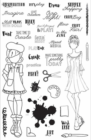 Prima Julie Nutting Craft Day Planner Clear Stamps