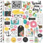 Simple Stories Carpe Diem Fundamentals Cardstock Stickers 12x12
