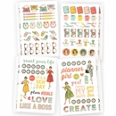 Simple Stories Carpe Diem The Reset Girl Icons Stickers