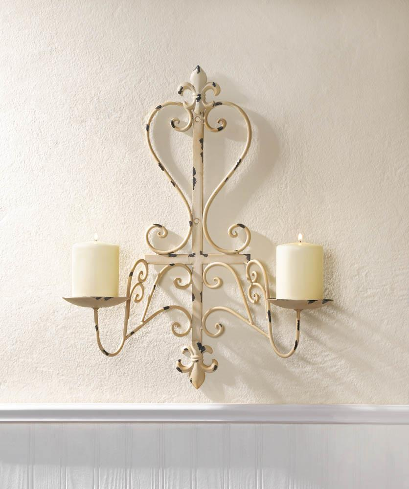antiqued fleur de lis candle sconce wholesale at koehler home decor accessories wholesale charming home design