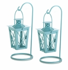 Baby Blue Hanging Railroad Lanterns