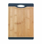 Bamboo Cutting Board with Black Rubber Grip