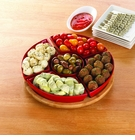 Bamboo Lazy Susan Serving Platter