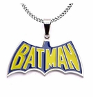 Batman Blue-and-Yellow Batman Pendant with Chain