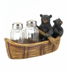Black Bear Canoe Salt & Pepper Holder