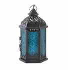 �Blue Cove Candle Lantern