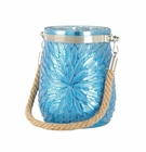 Blue Flower Candle Holder