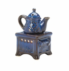 Blue Teapot Stove Oil Warmer