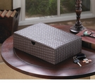 Faux Leather Keepsake Box