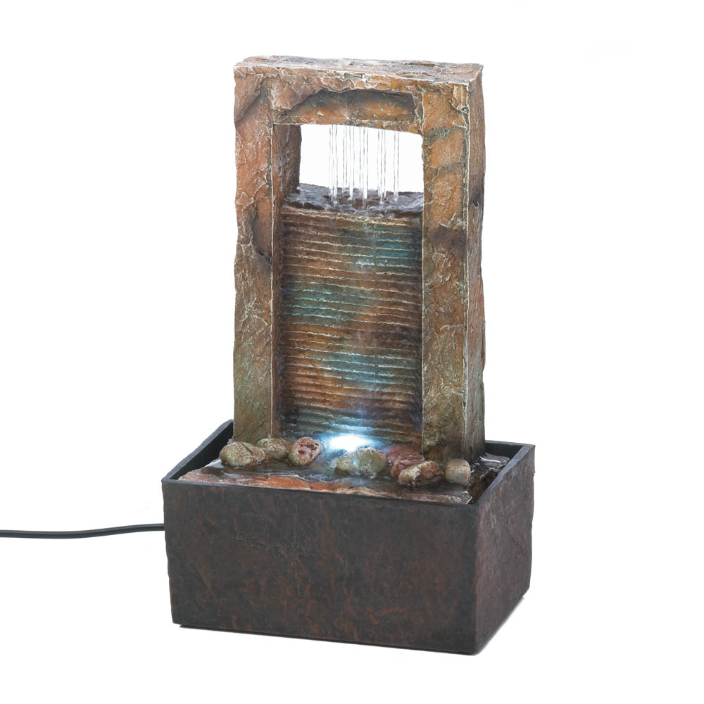 cascading water tabletop fountain wholesale at koehler home decor