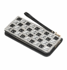 Ladies Checker Crystal Wallet