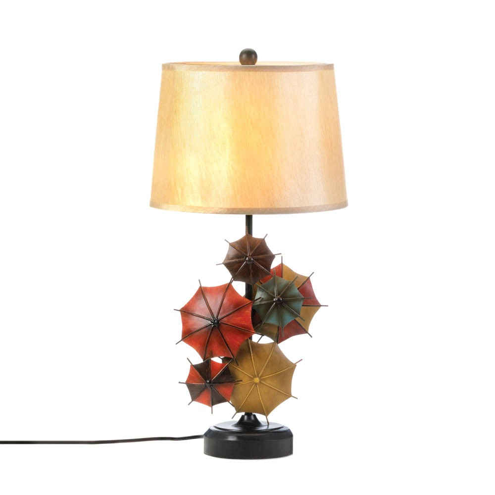 Whole Sale Home Decor: Colorful Umbrella Table Lamp Wholesale
