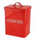 Cookies Red Kitchen Canister