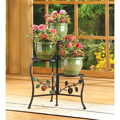Country Apple Plant Stand Wholesale at Koehler Home Decor