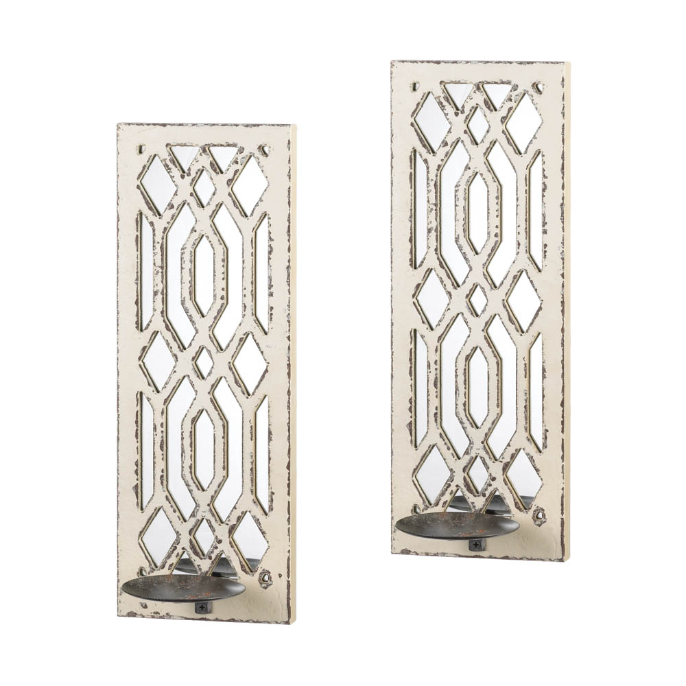 Deco Mirror Wall Sconce Set Wholesale At Koehler Home Decor
