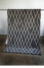 Diamond Gray Wool Rug 2 X 7.6 Ft
