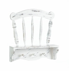 Distressed White Chair Wall Shelf