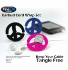 Earbud Cord Wrap Set