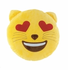 Emoji Cat Throw Pillow