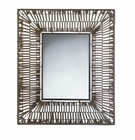Faux Rattan Rectangular Wall Mirror