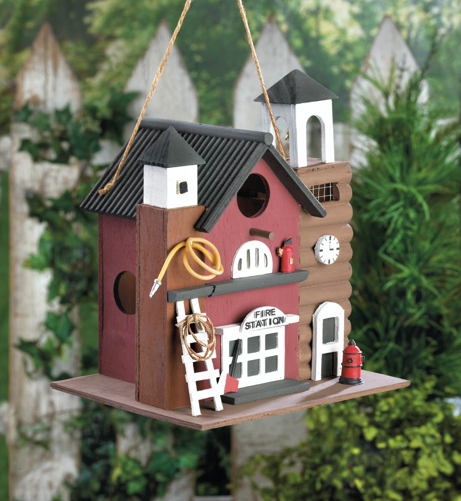 Fire Station Birdhouse Wholesale At Koehler Home Decor