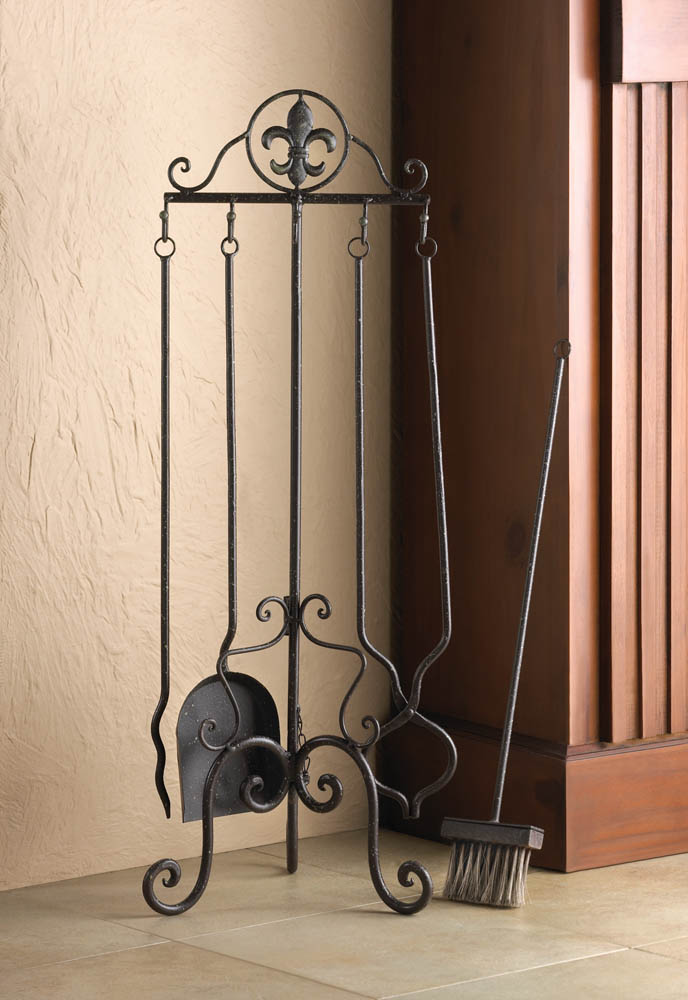 fleur de lis fireplace tool set wholesale at koehler home fleur de lis home decor pictures amp photos