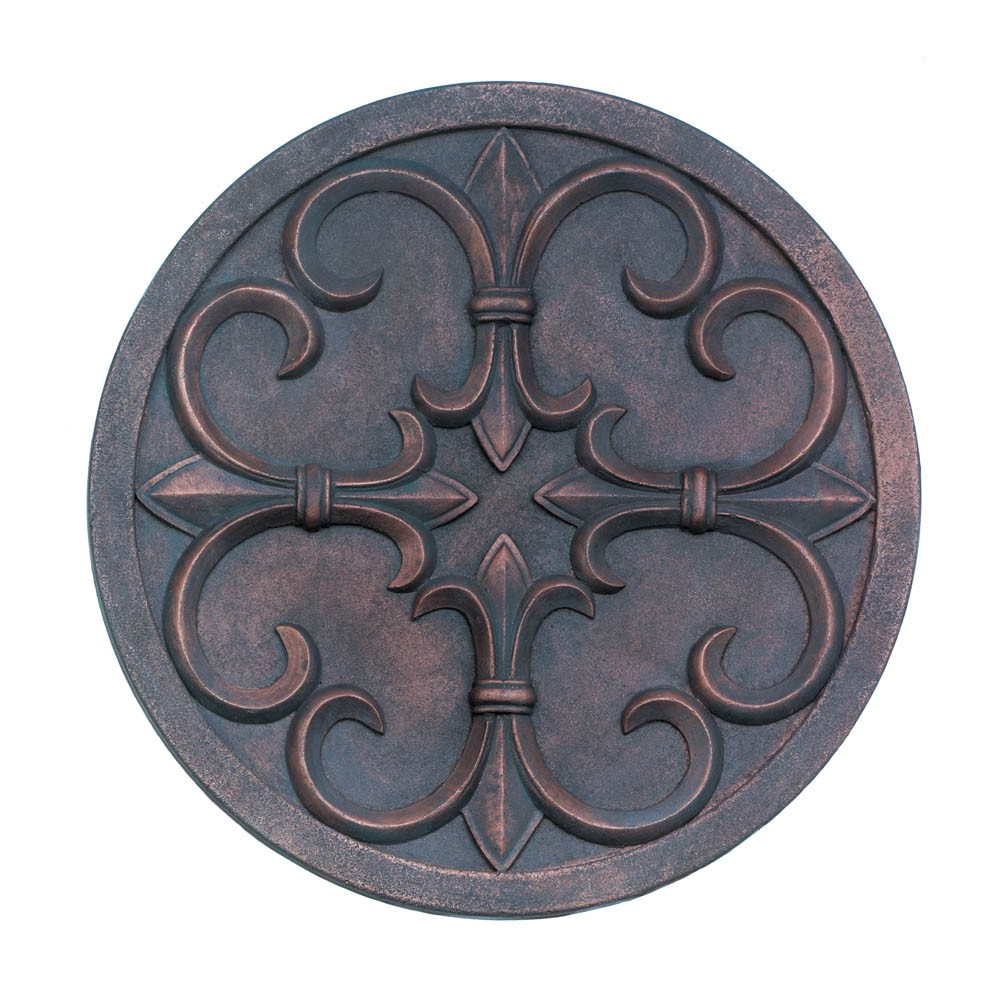 Fleur de lis garden wall plaque wholesale at koehler home decor - Plaque de decoration ...