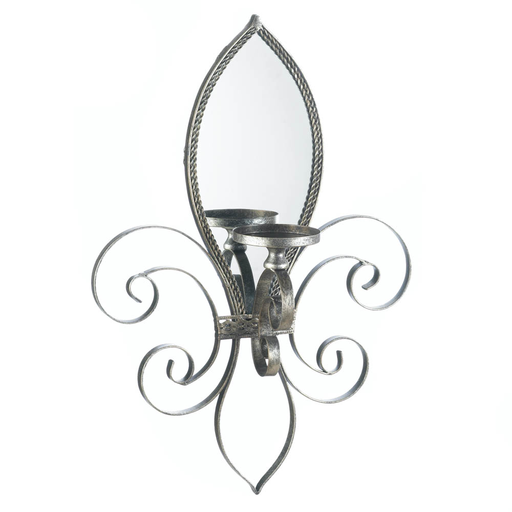 fleur de lis mirrored wall sconce wholesale at koehler fleur de lis home decor wholesalers trend home design