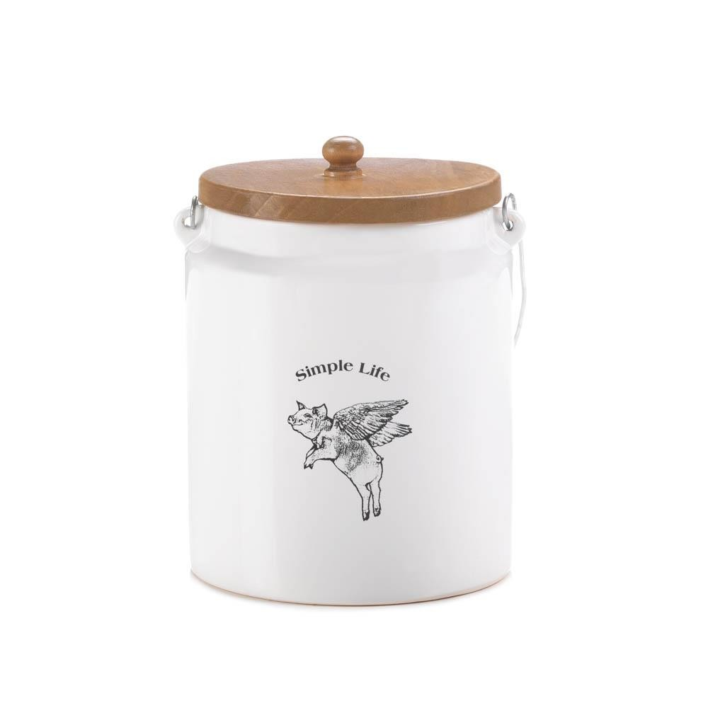 flying pig large canister wholesale at koehler home decor