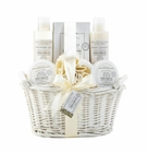 Fresh Herb Tea White Basket Spa Set