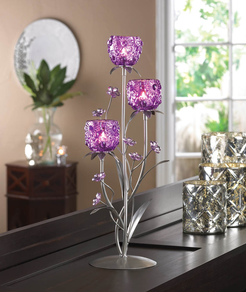 Fuchsia Blooms Candle Holder Wholesale At Koehler Home Decor