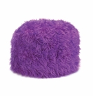 Fuzzy Orchid Pouf Ottoman